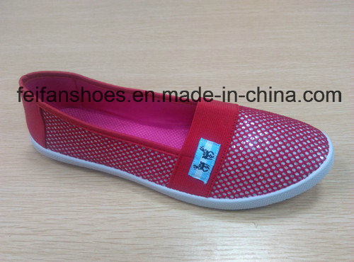 Hot Sale Women Leisure Injection Canvas Shoes Casual Shoes (HP-3)