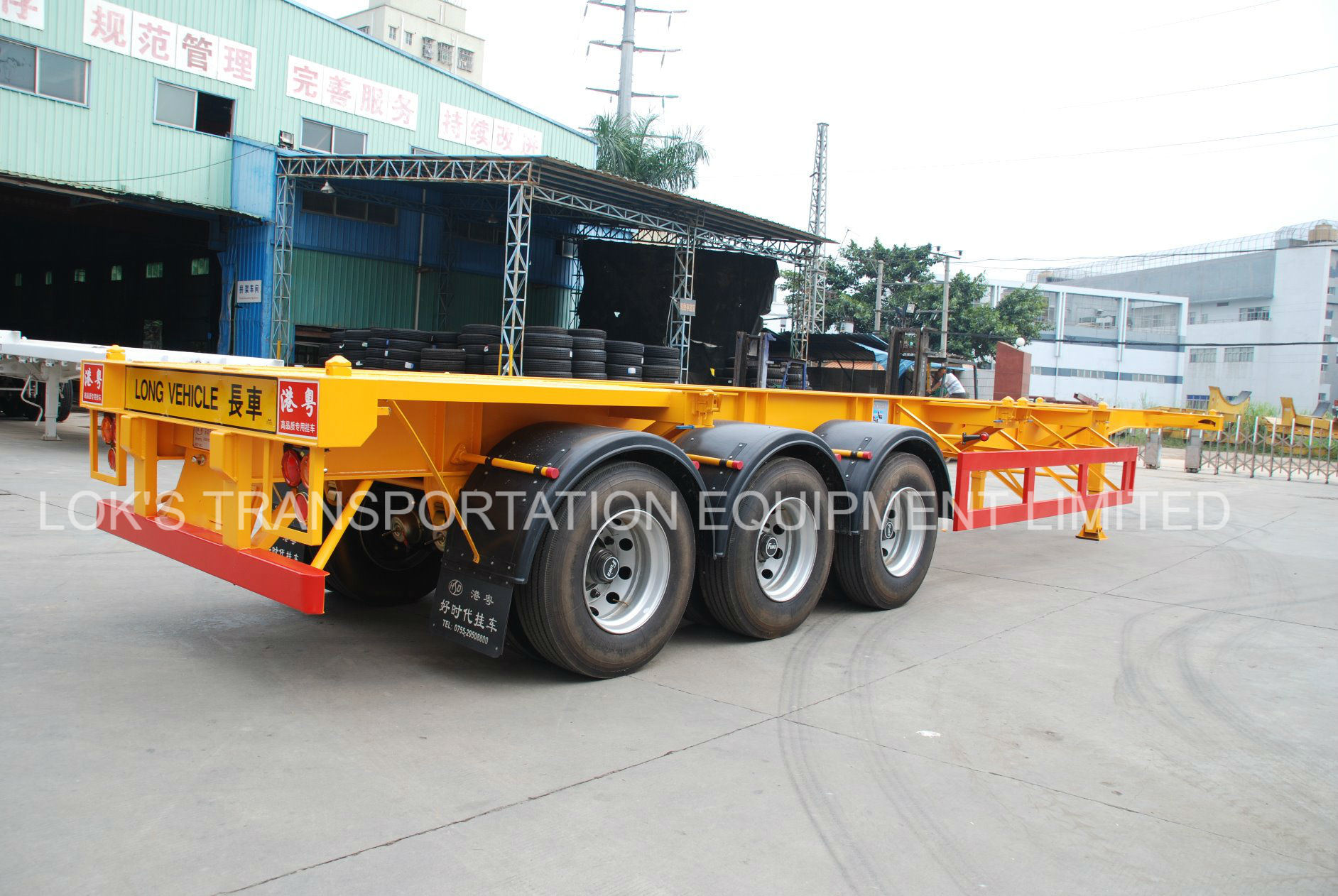 40 Feet 3axles Skeleton Cargo/Container Semi Truck Trailer