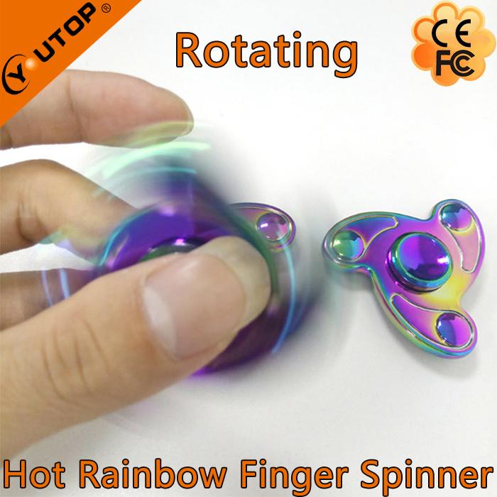 Best Selling Mini Rainbow Fidget Spinner for Relaxing Ourselves