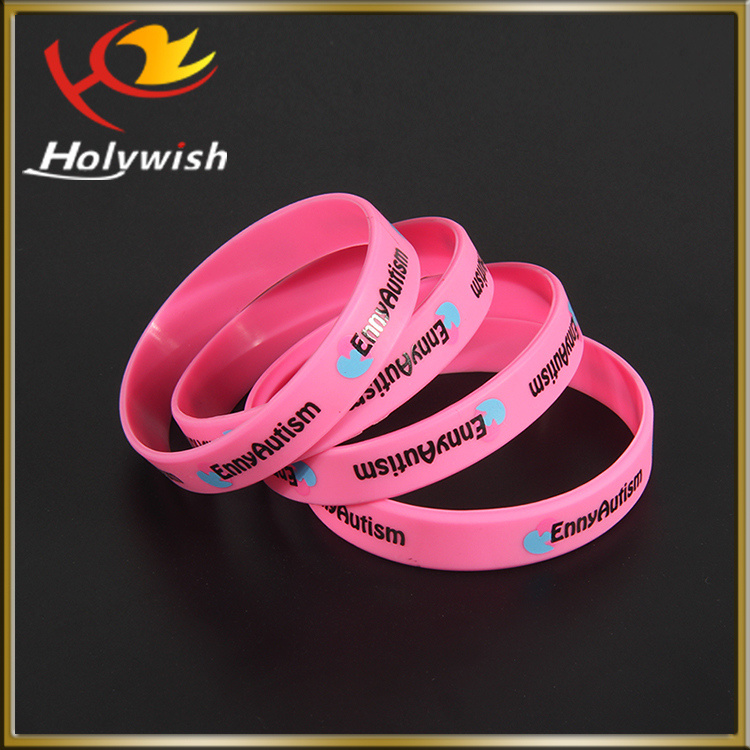 Big Discount Promotional Bracelet Customized Silicone Rubber Wristband