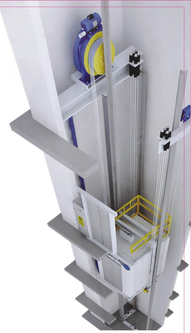 320-1600kg Machine Room Indoor Outdoor Passenger Elevator