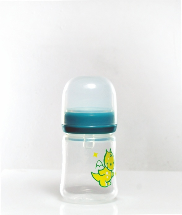 2017 Promotional Food Grade PP Milk Feeding Baby Bottle with Natural Silicone Nipple
