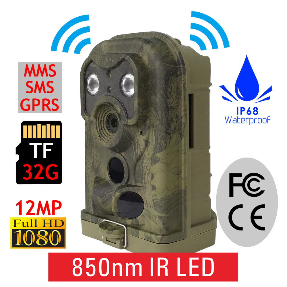 2017 Newest 940nm Invisible Night Vision Hunting Trail Camera 12MP 1080P MMS/GSM