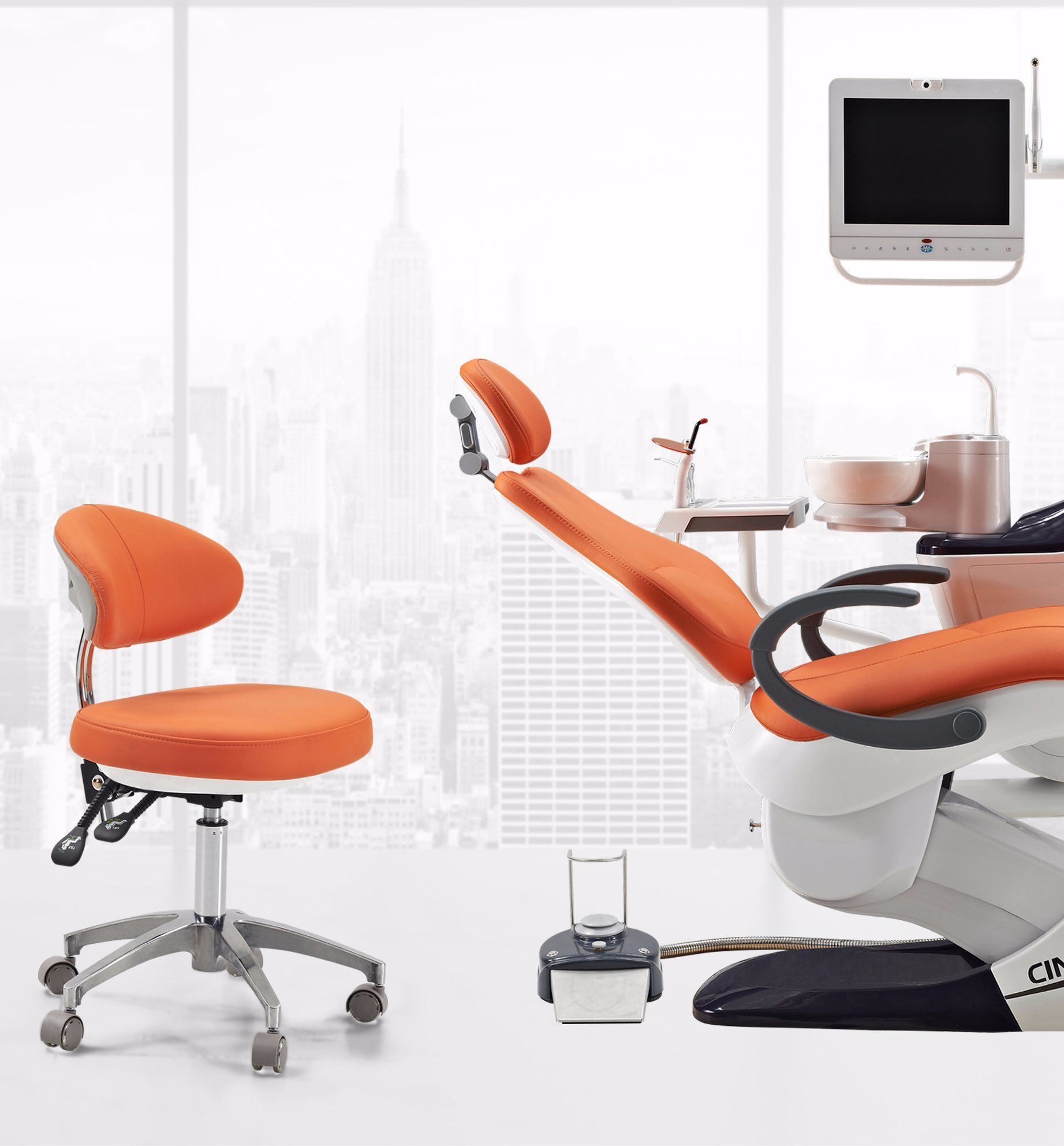 2017 New Dental Chair with Mobile Cart