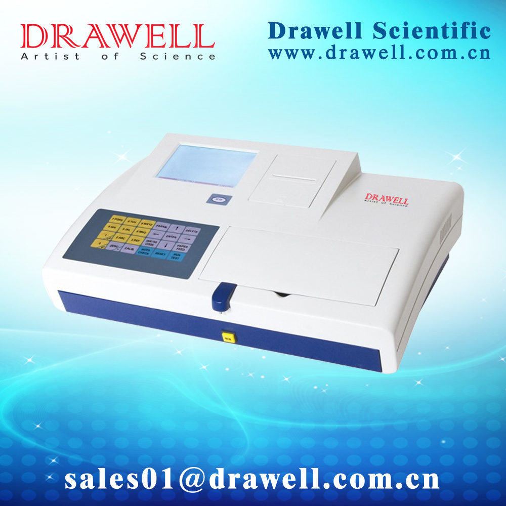 Type Drawell-Silver Semi-Auto Biochemistry Analyzer