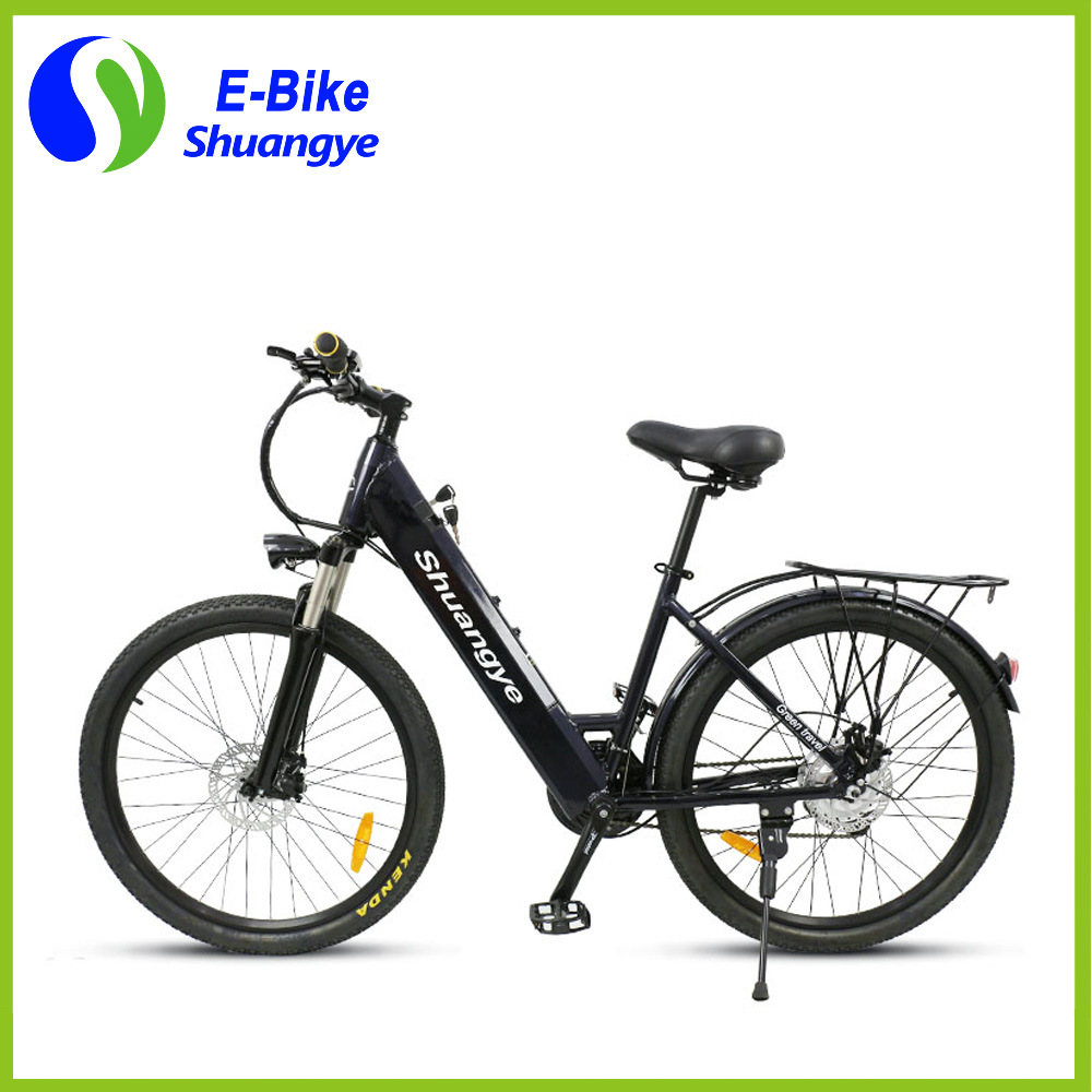 Shuangye 26′′ 28′′ Hidden Battery LCD Display Electric Mountain Bike