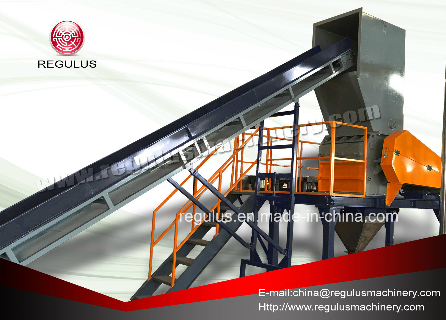 Plastic PE Film, Bags Recycling Line