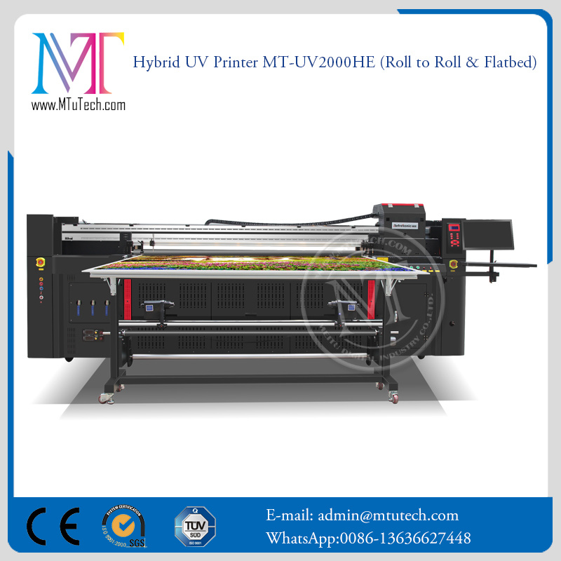 2 Meters Large Format Inkjet Printing Machine Printer Flatbed and Roll to Roll LED UV Printer Digital Printer