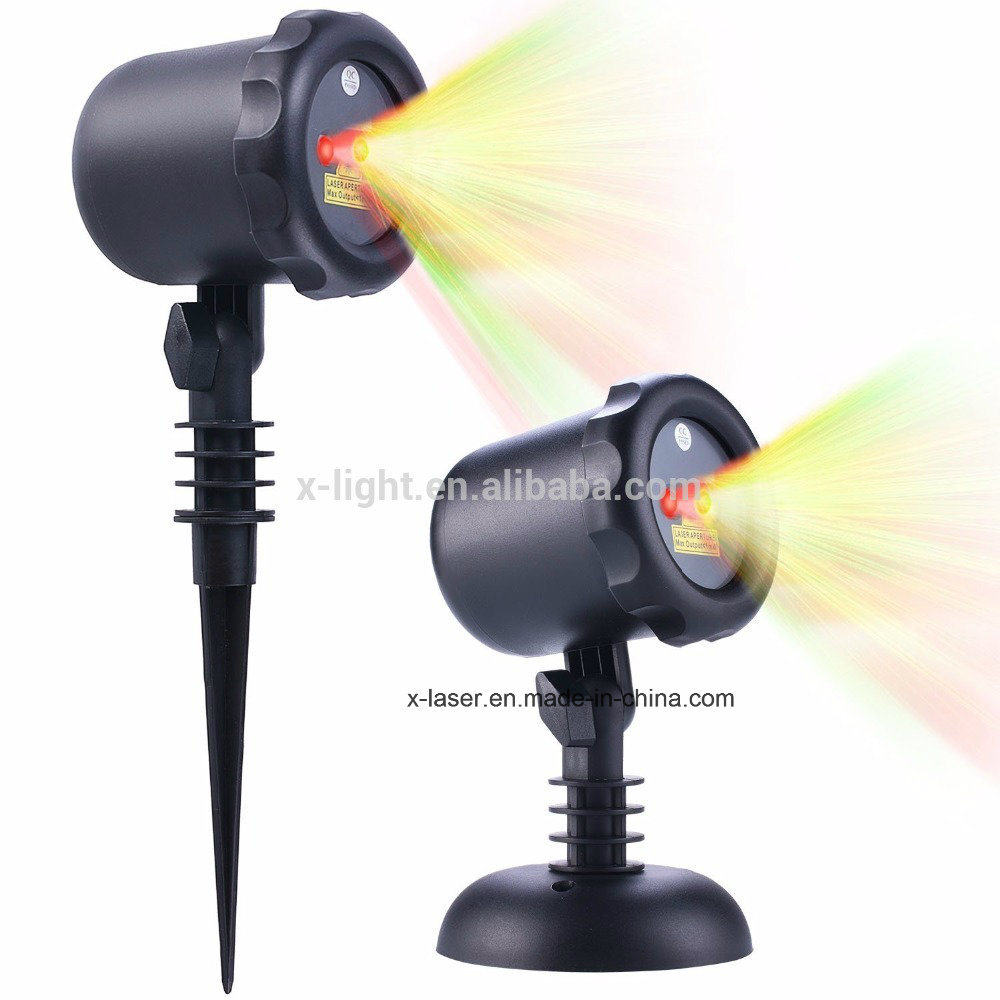 Outdoor Christmas Laser Lights Static Star Projection Shower for House Party Yard Garden Tree Lighting