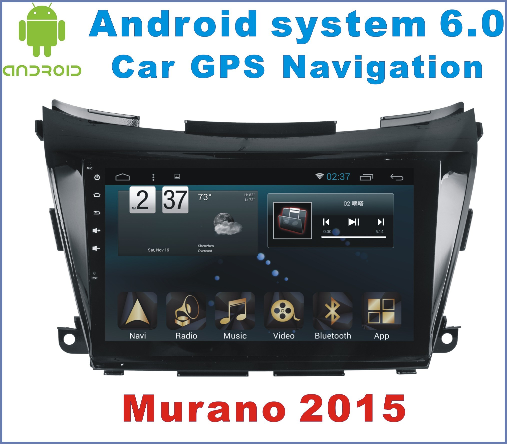 Android 6.0 Car DVD Player for Nissan Murano 2015 with Car GPS Navigation