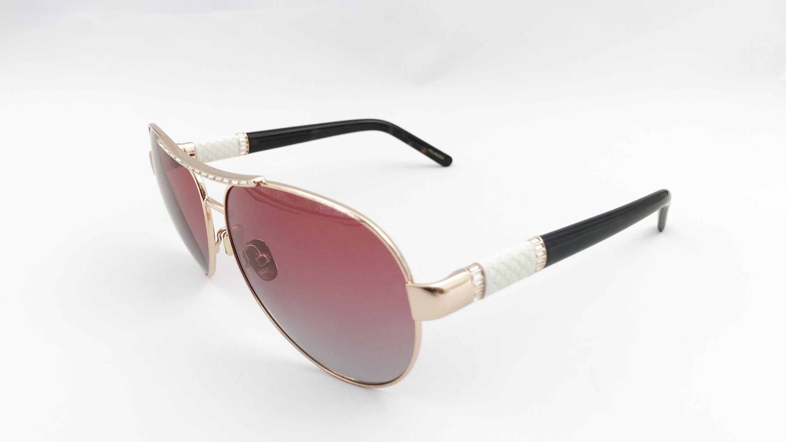 Luxury and Fashion Chorpard Style Metal Sunglasses for Lady