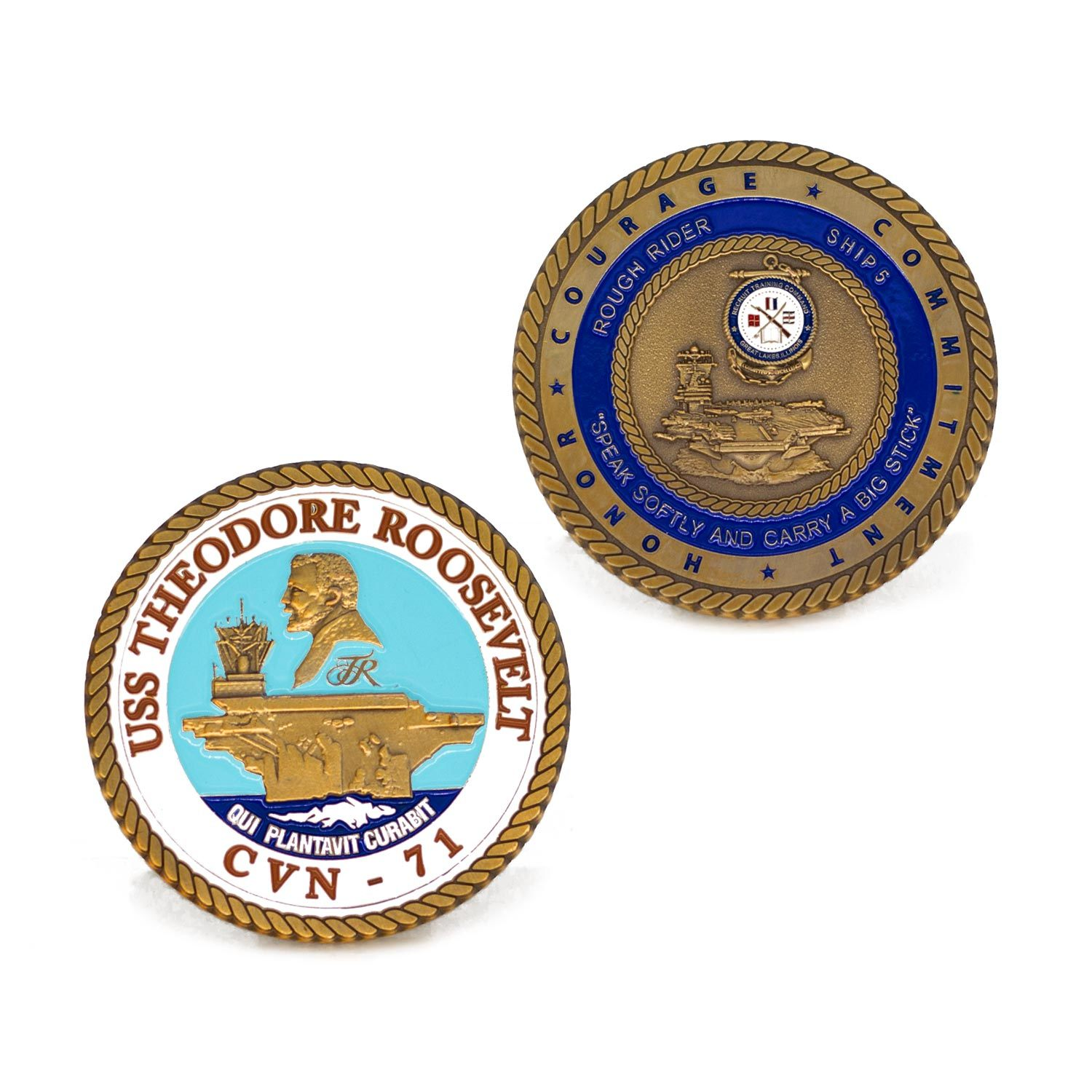 Custom High Quality Navy Challenge Coin