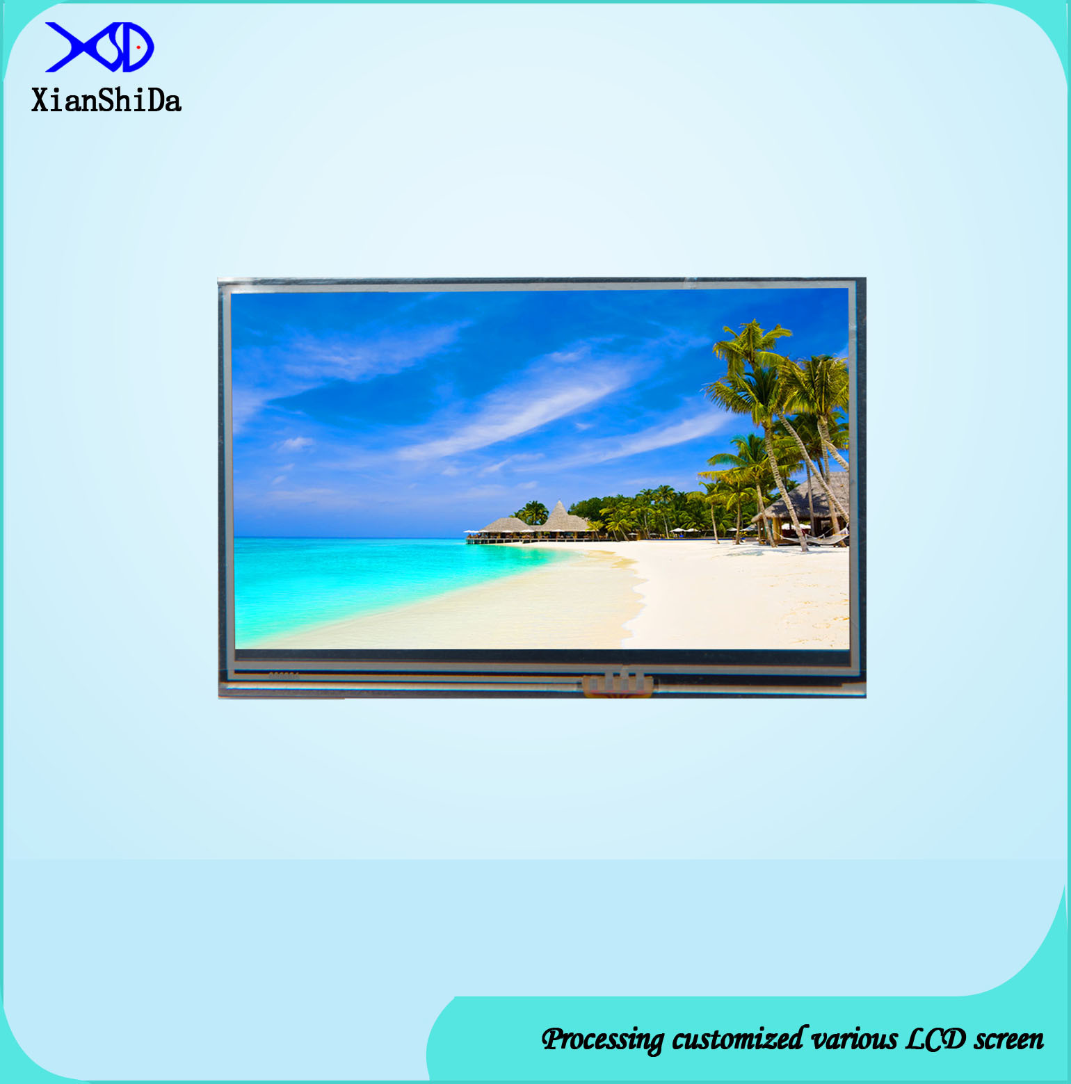 3.51 Inch TFT LCD Screen with Resistive Touch Panel
