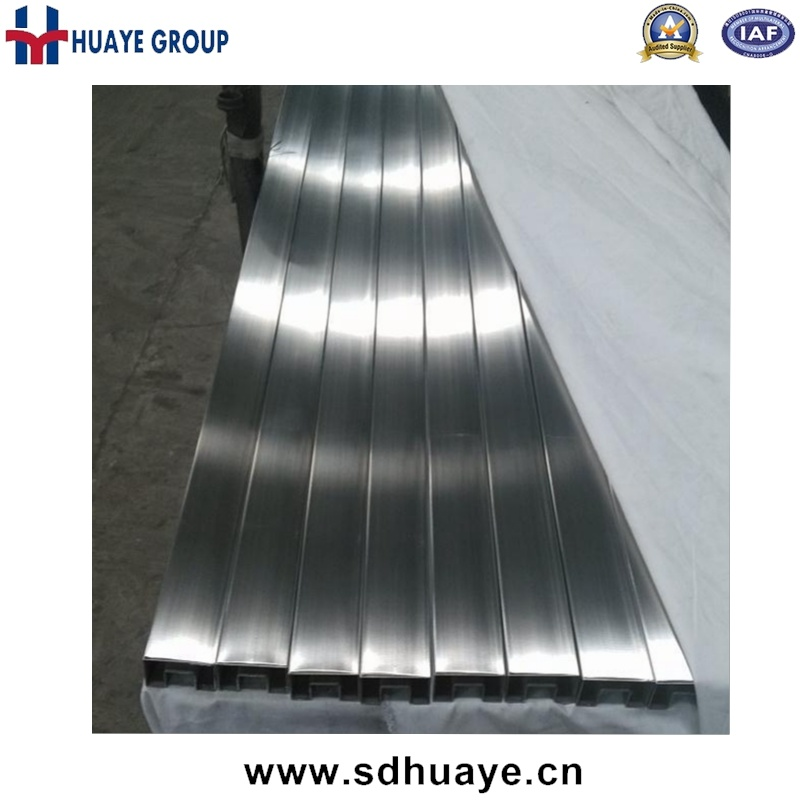 Stainless Steel Slotted Pipe Tube, Channel Tube for Balustrade Glass Railing