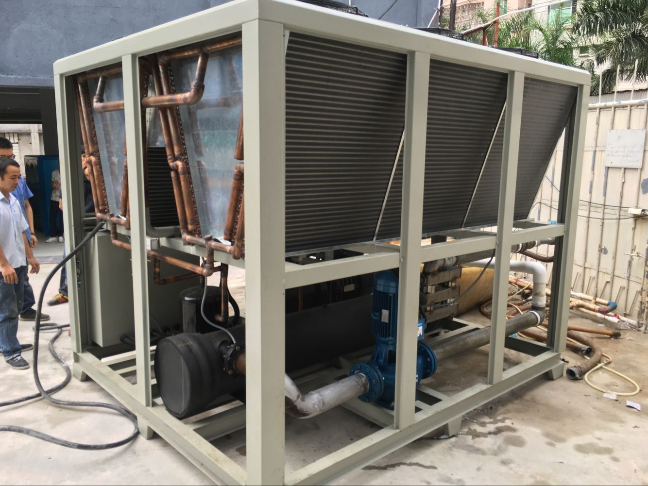 180-245kw Air Cooled Water Chiller with Bitzer Screw Compressor