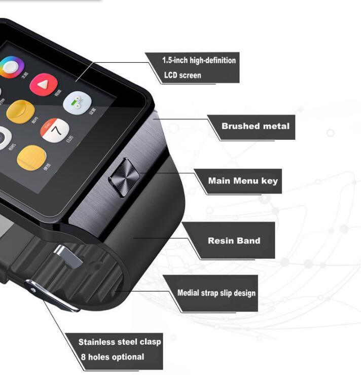 Smart Watch Dz09 Multifunction Bluetooth Wrist Camera for Android Phone iPhone