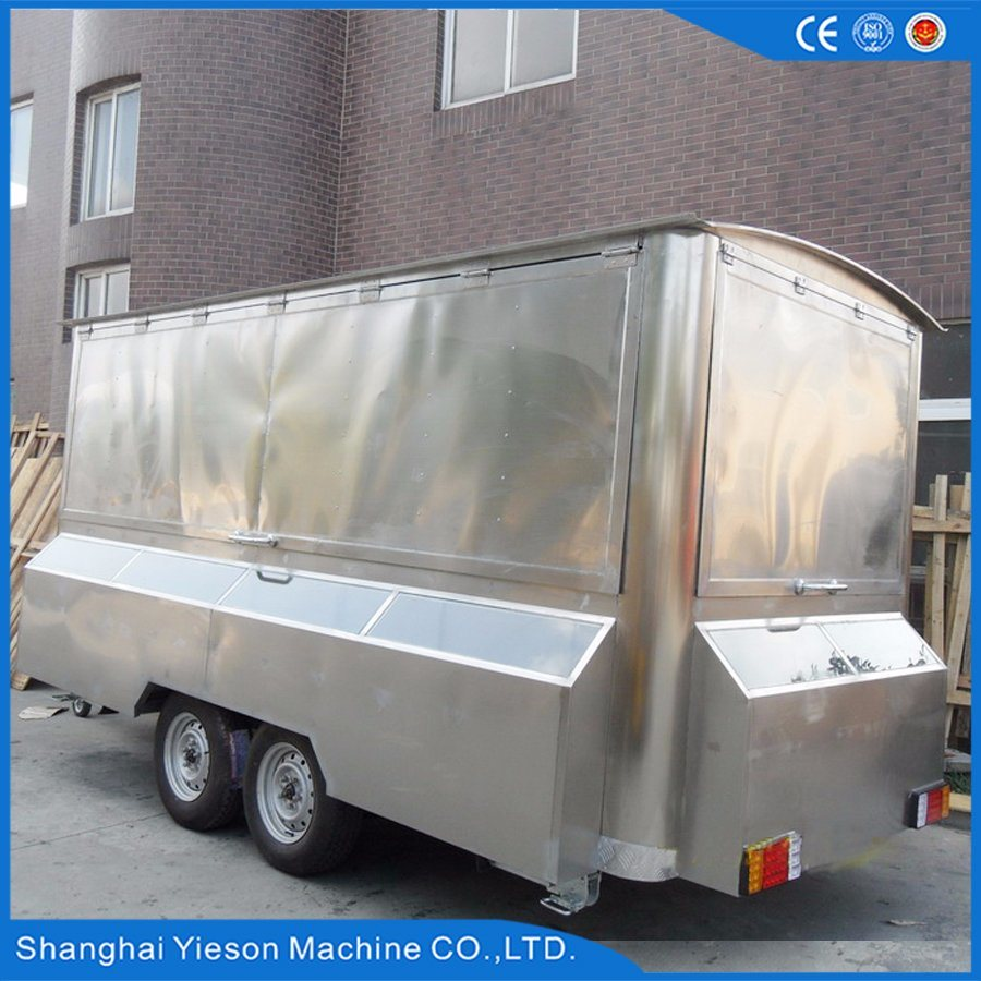 Ys-Fv450A 4.5m Stainless Steel Mobile Restaurant Mobile Food Car for Sale
