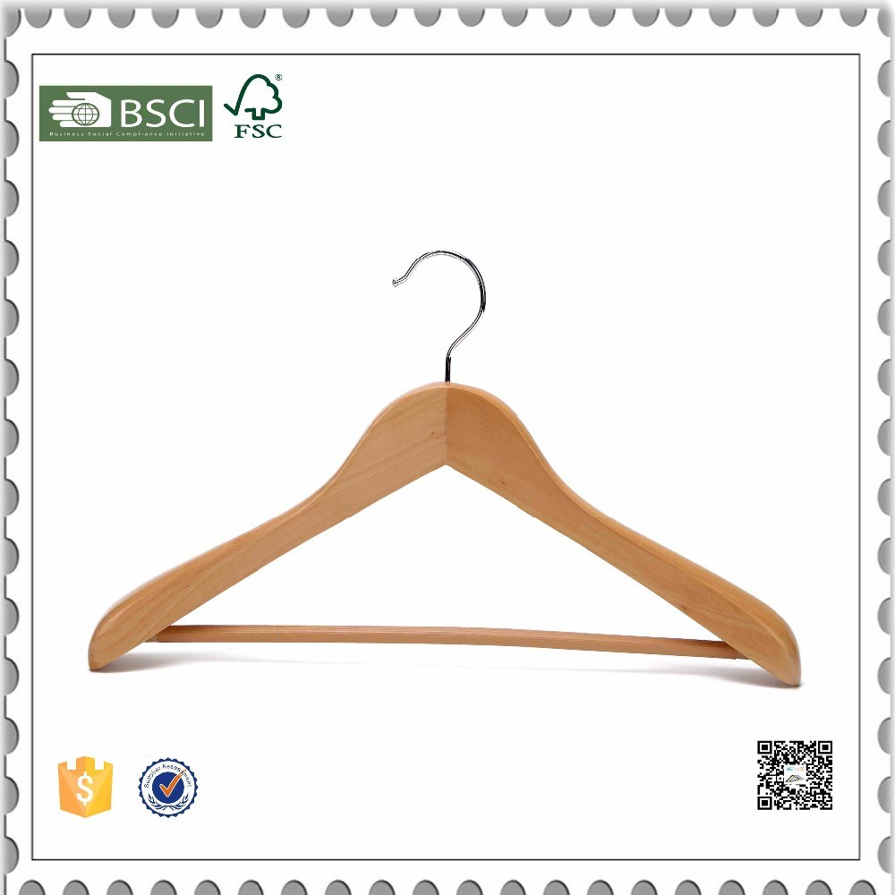 Cheap Custom Fashion Brand Wooden Clothes Hanger with Logo