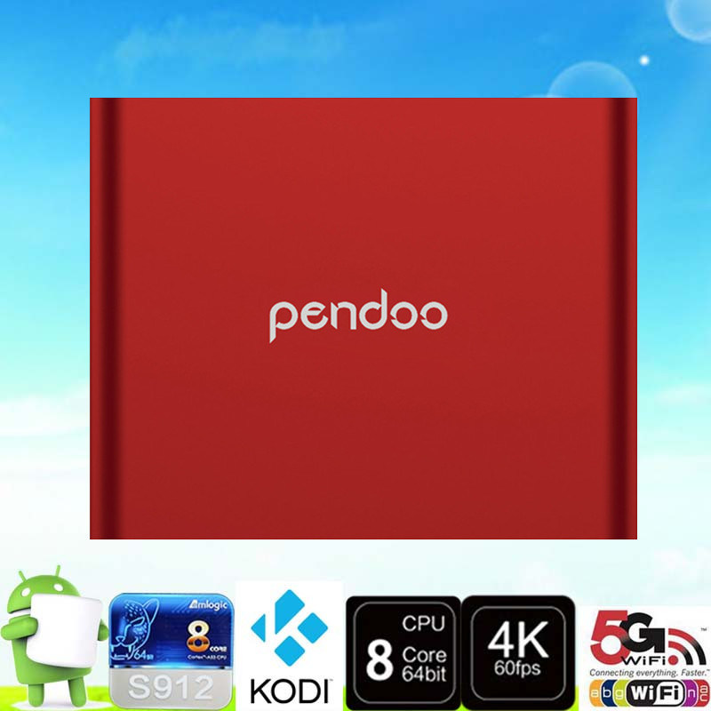 2016 Unique Design S912 Pendoo T95u PRO 2g 16g TV Box