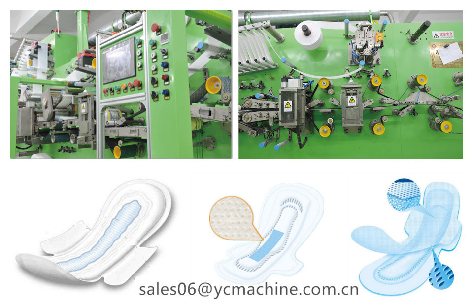 500PCS/Min Sanitary Napkins Machine for U by Kotex Cleanwear Ultra Thin Women Napkins