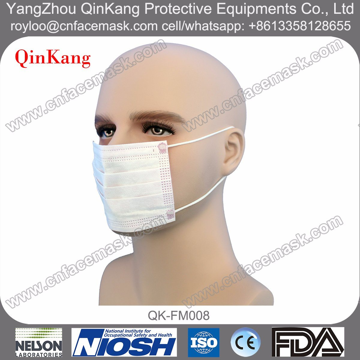 Disposable Kids Medical Nonwoven Earloop Face Mask