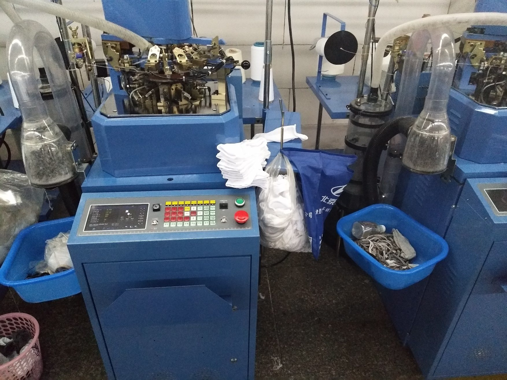 Hys-PT3.75-6f-168n Plain&Terry Mix Function Socks Knitting Machine