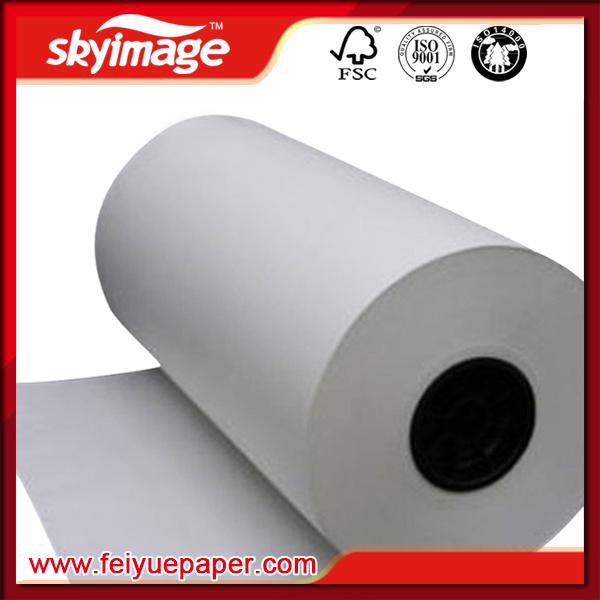 50GSM Jumbo Roll Fast Dry Sublimation Transfer Paper for Large Format Inkjet Printer