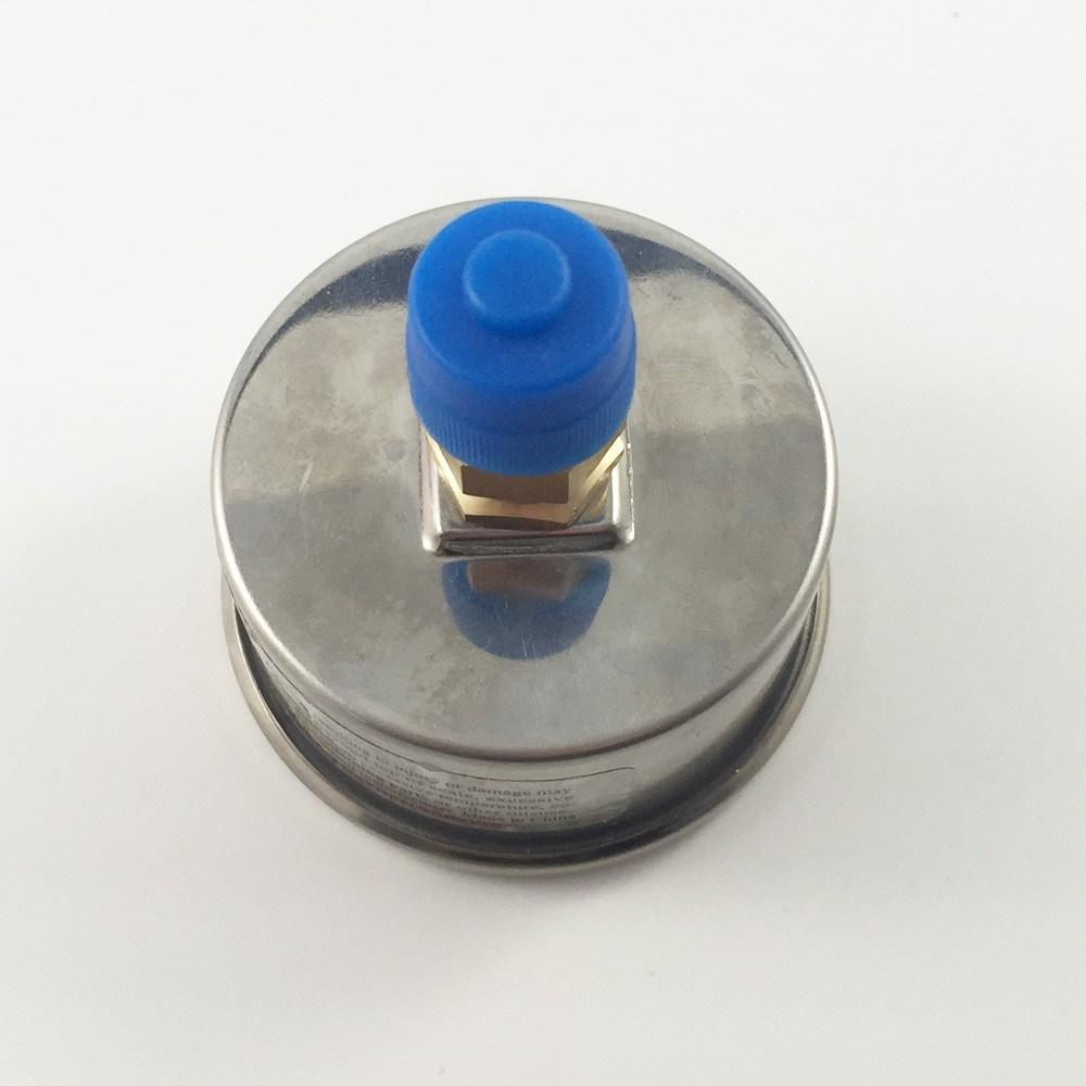 043 40mm Brass Internal Use No Oil Compound Pressure Gauge