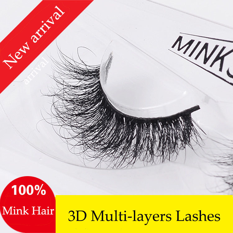 New Arrival Luxurious Lashes 3D Multi-Layers Handmade Mink Hair False Eyelashes