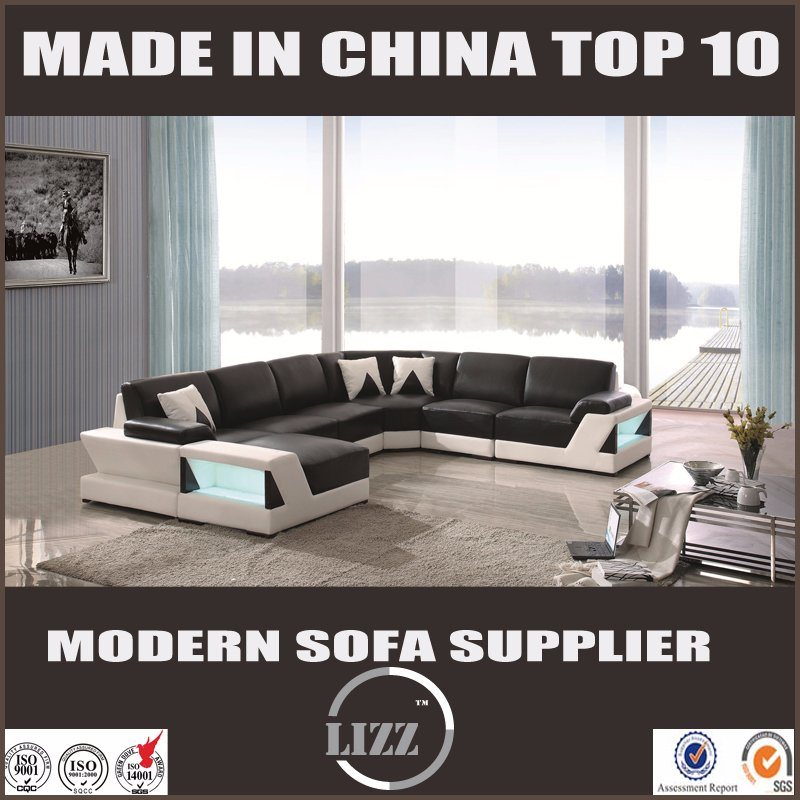 Divany Most Popular Stainless Steel Leg Leather Living Room Sofa