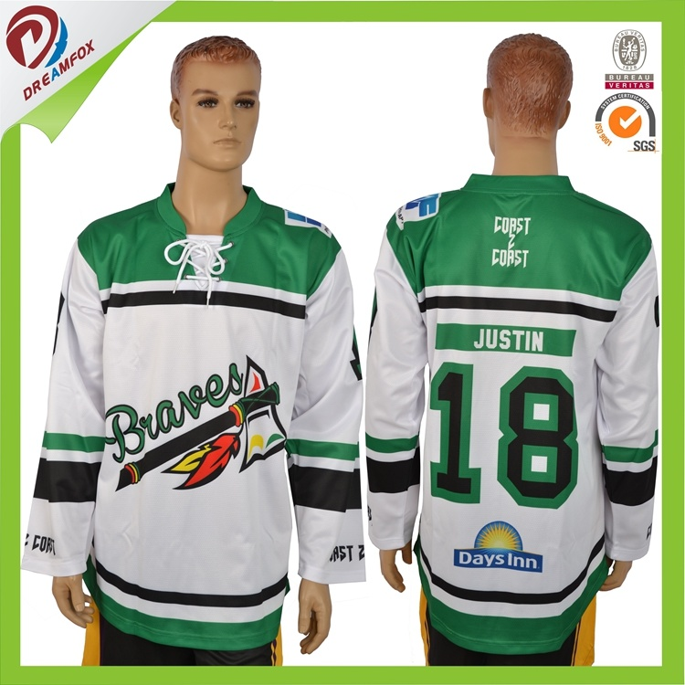 Latest Dry Fit Custom Sublimation Ice Hockey Jersey Design