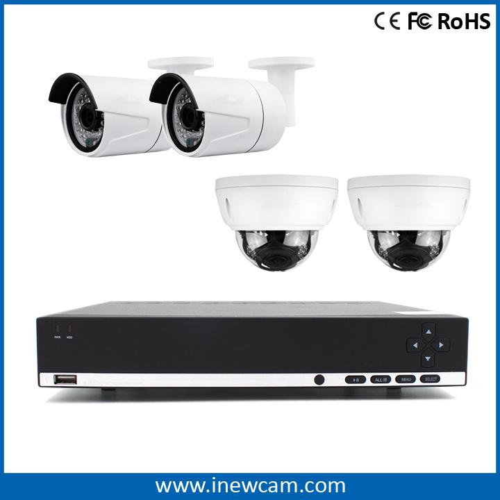 H. 264 4CH 4MP Network CCTV P2p Poe NVR