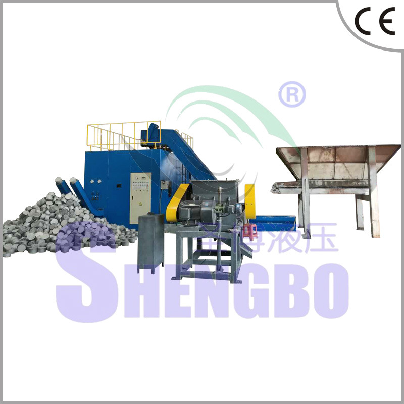 Horizontal Automatic Aluminium Chips Block Making Machine (CE)
