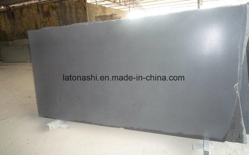 Honed Black Basalt Slabs for Wall Facade Tiles