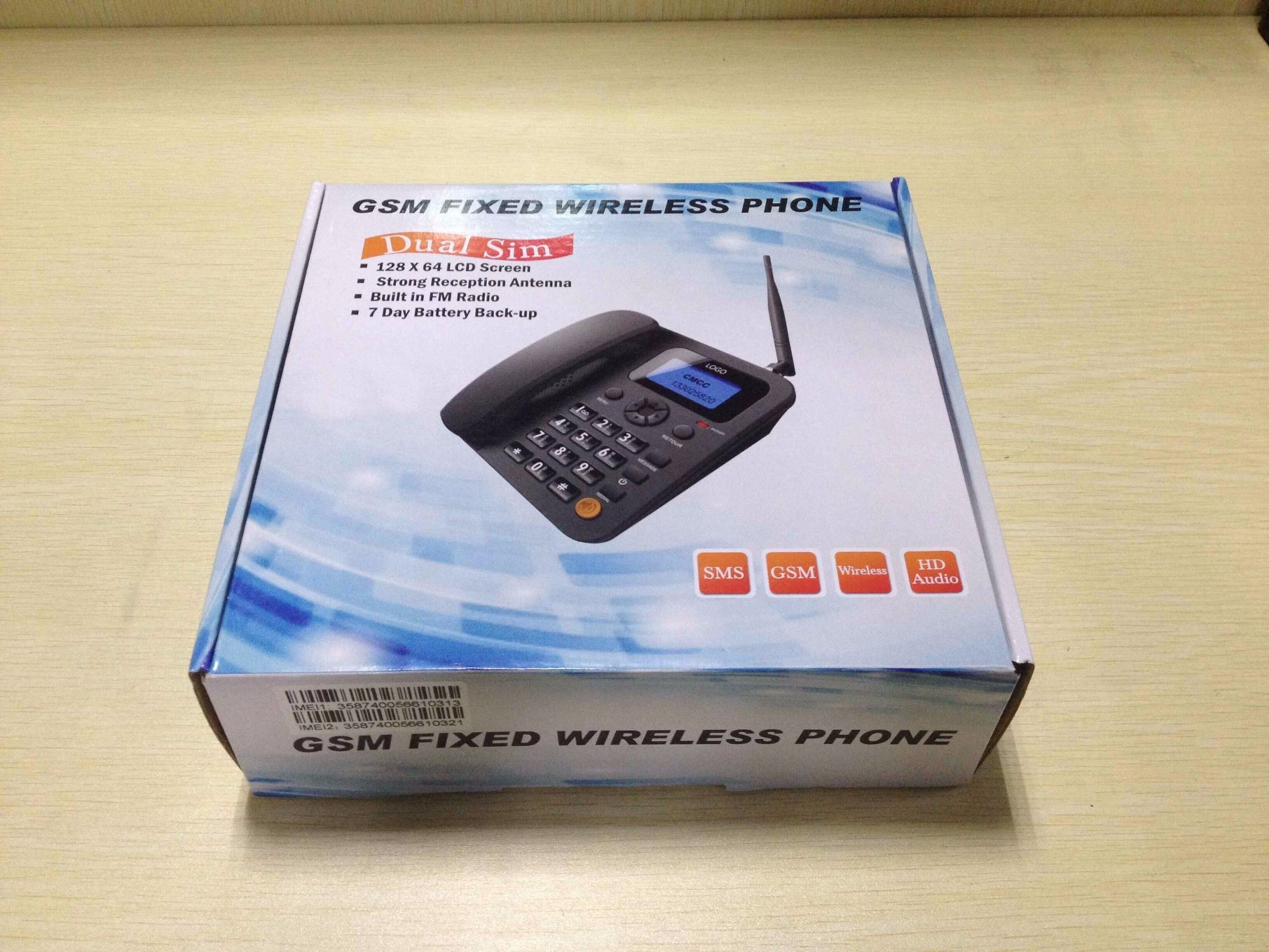 GSM Fixed Wireless Telephone with 2 SIM Card Slot