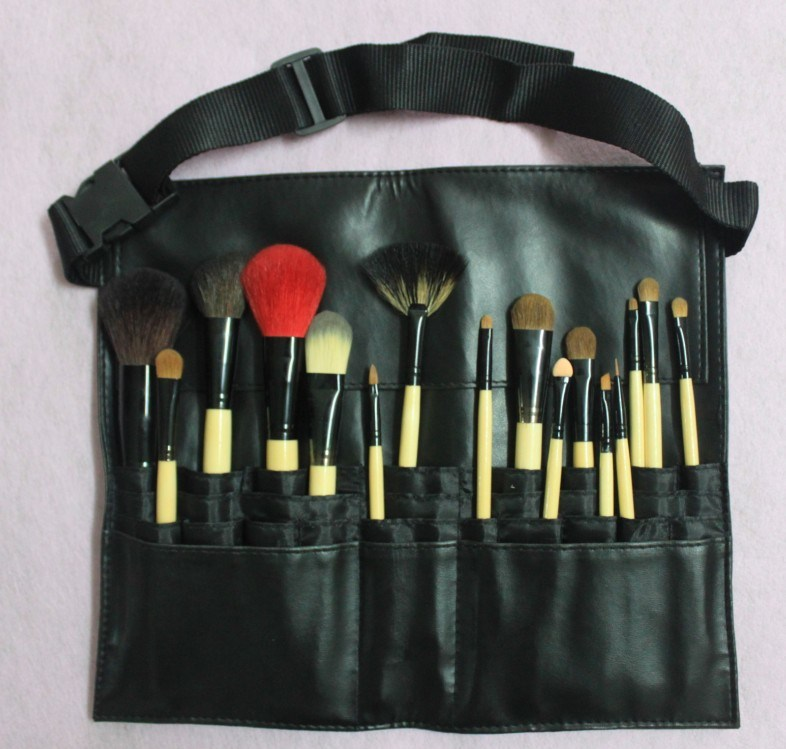 China New 16 PCS PRO Makeup Artist Cosmetic Brush With Tool Belt Apron - China Cosmetic Brush ...