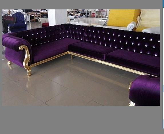 China Nightclub Furniture Fabric Corner Sofa For Sale