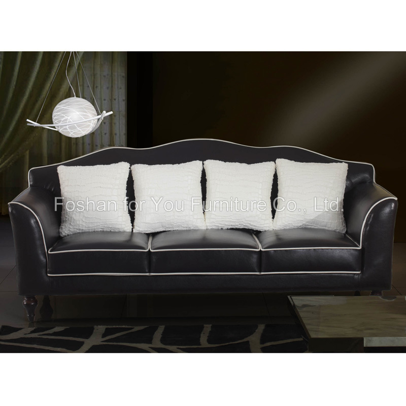 China Living Room Furniture Sofa Fabric Sofa 573 BLACK China Fabric Sofa