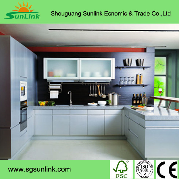 Artificial Wood Veneer Kitchen Cabinet Doors for Kitchen Use