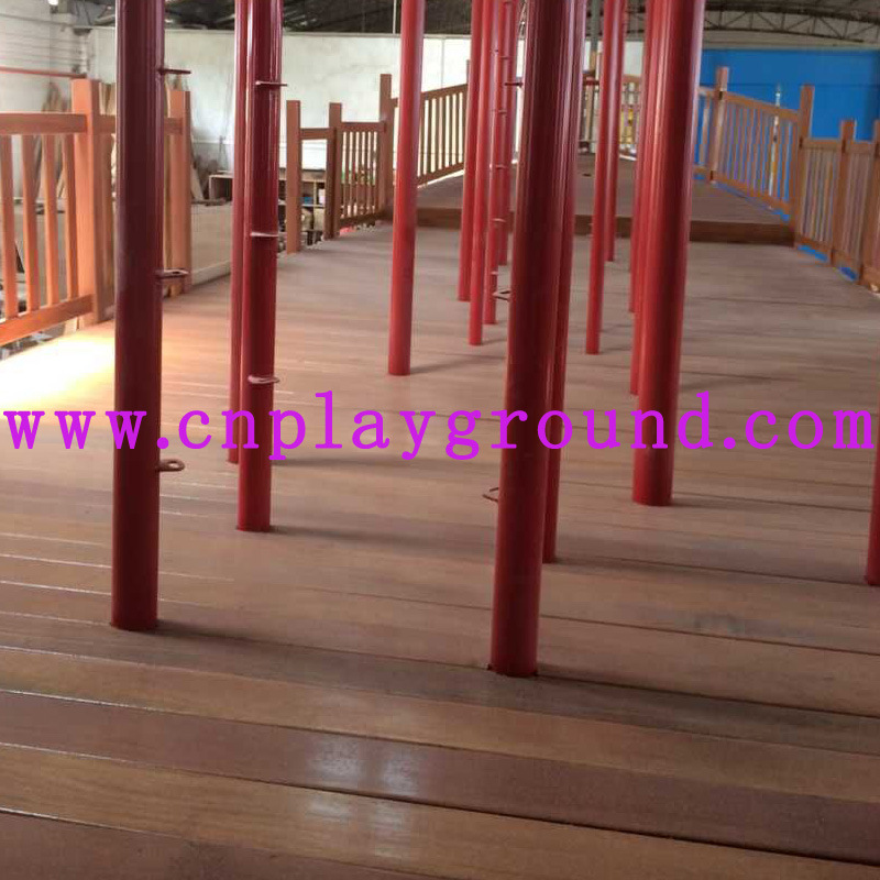 Playground Factory Sales Wooden Outdoor Playground Equipment Wooden Pirate Ship Playground (HD-5401)