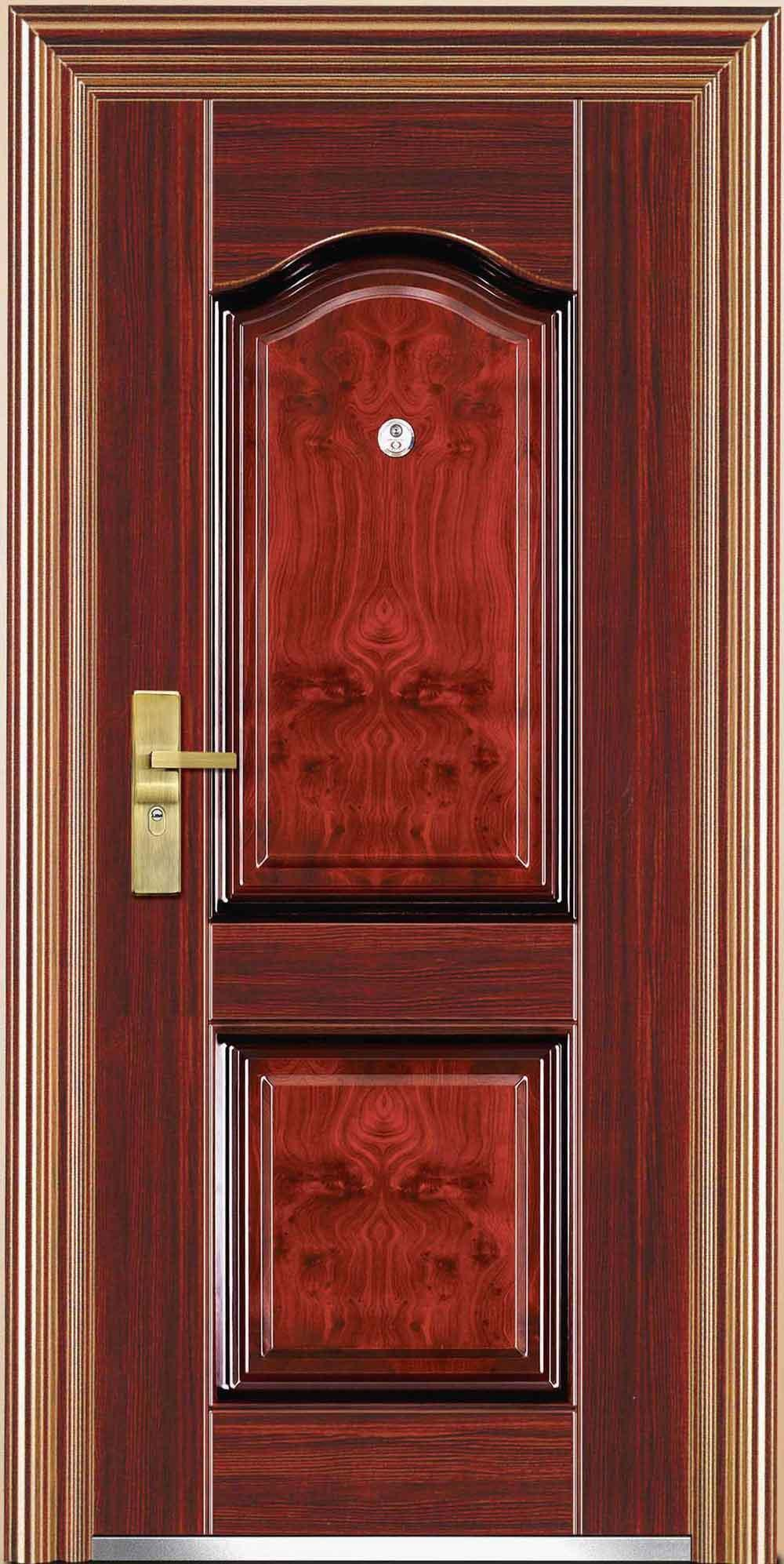 China steel security doors jc s6051 china steel doors for Metal entry doors