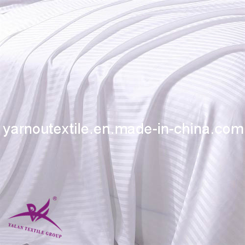 100% Cotton Stripe Fabric for Bed Sheet in Home, Hotel and Hospital/Stripe Fabric