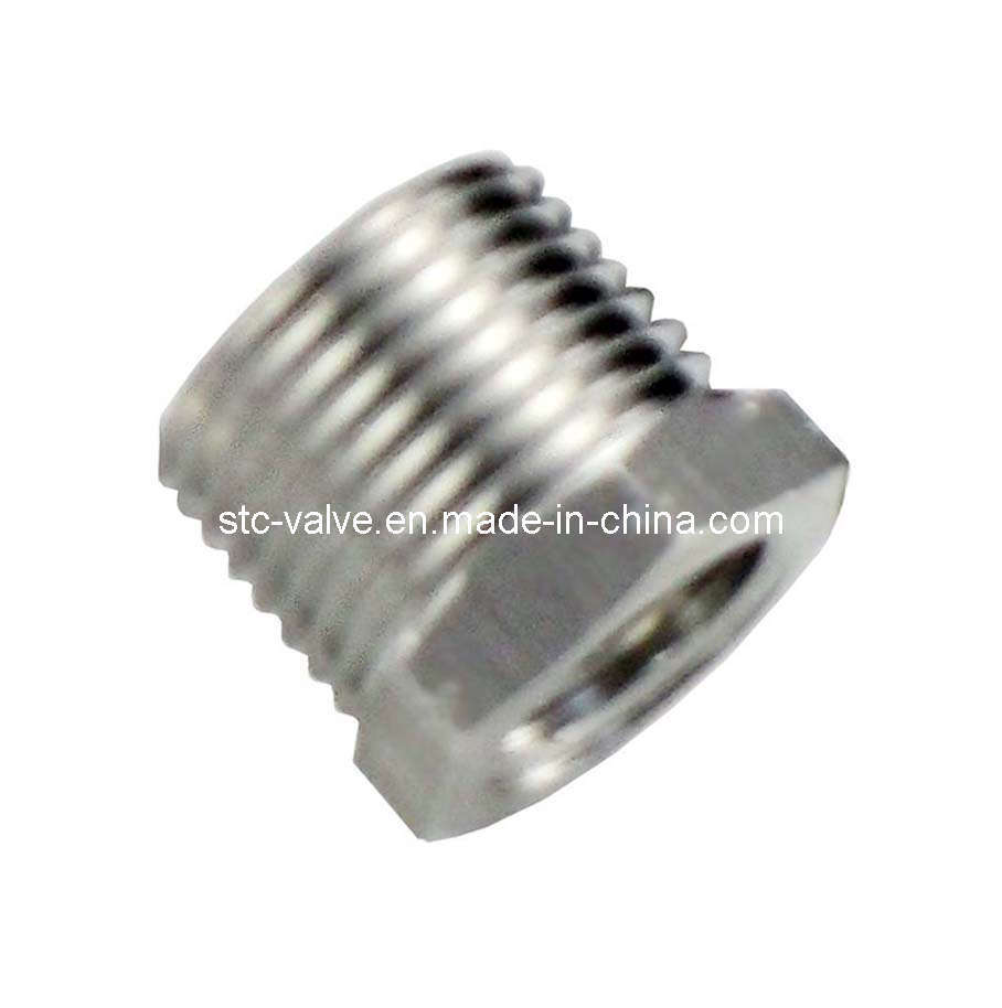 China stc stainless steel hex bushing push in fittings
