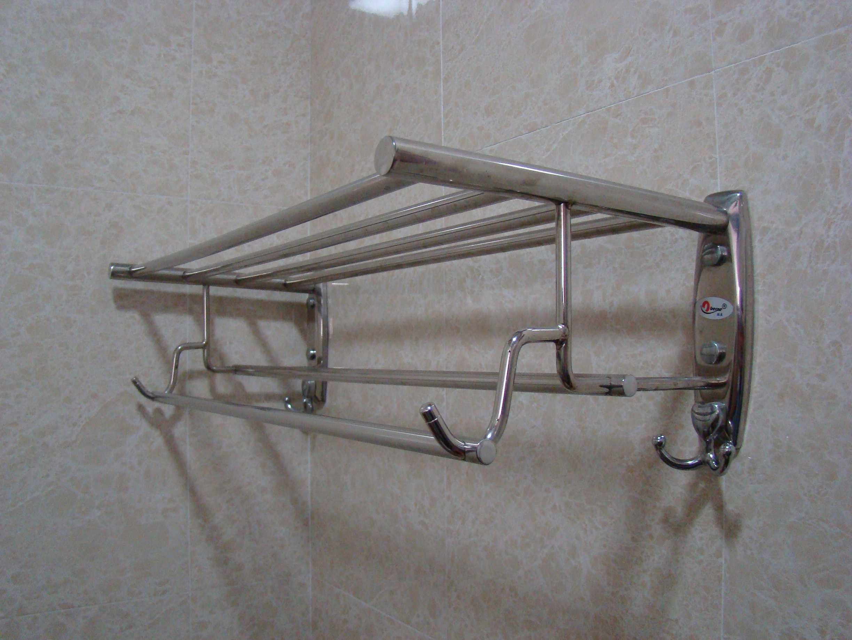 china wall mounted towel rack with shelf hk cs tr01. Black Bedroom Furniture Sets. Home Design Ideas