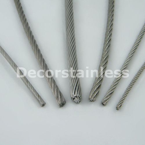 Stainless Steel 6X24+7FC Wire Rope
