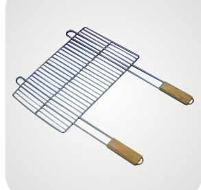 Barbecue Grills On Stainless Steel