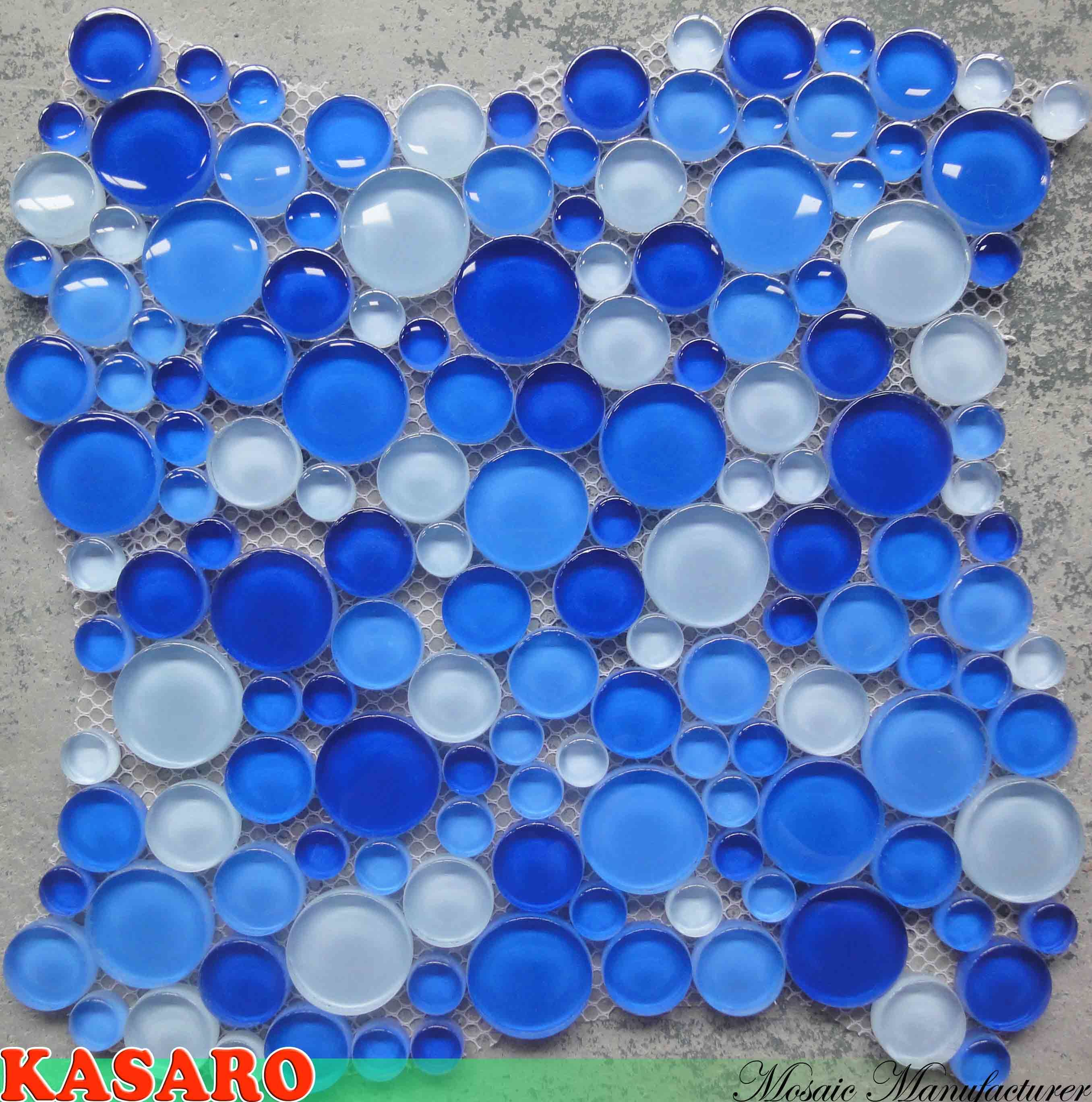 china blue round wall tile glass mosaic ksl c10100 photos pictures