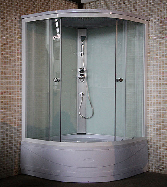 Low Price White Sector Tempering Glass Shower Cabin Jinna 90X90