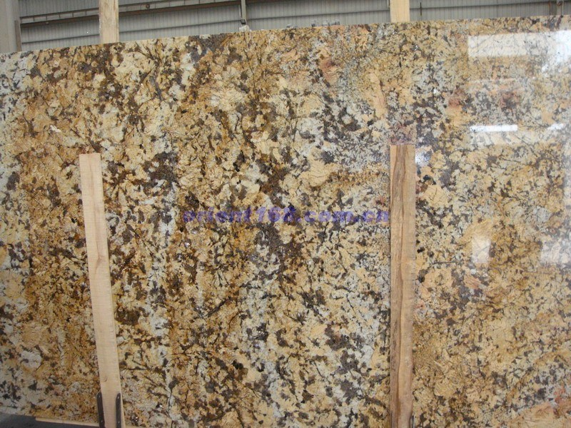 Crystalline Stone Slabs : China granite slab crystal yellow