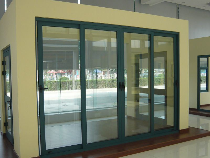 China aluminum sliding doors china aluminum doors for Aluminum sliding glass doors